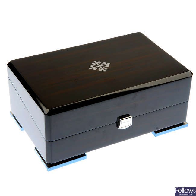 A complete Patek Philippe watch box.