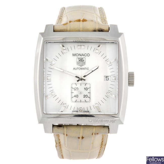 TAG HEUER - a Monaco wrist watch.