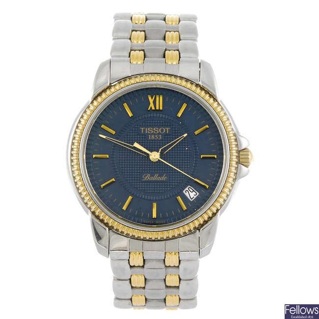 TISSOT - a gentleman's Ballade bracelet watch together with a Tissot wrist watch.