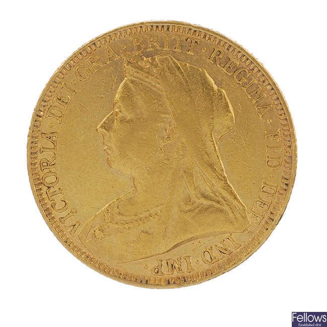 Victoria, Sovereign 1893.