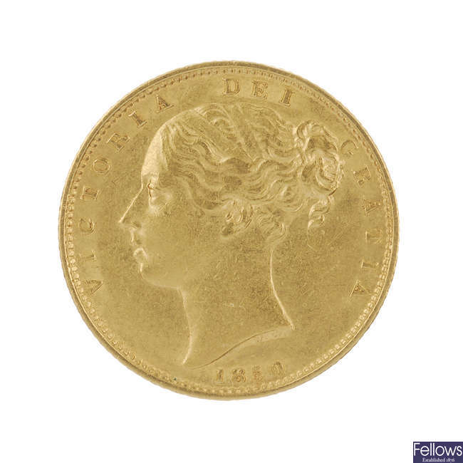 Victoria, Sovereign Shield rev. 1850.
