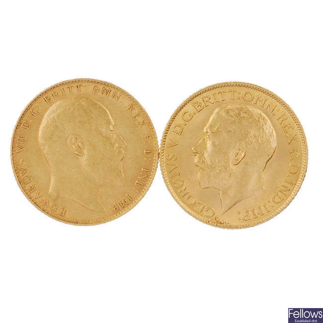 Sovereigns 1907, 1911.