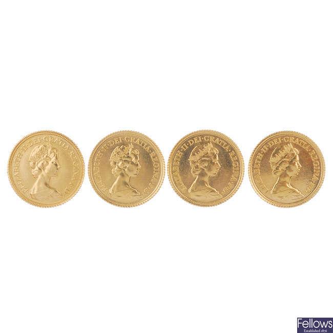 Elizabeth II, Half-Sovereigns 1982 (4).