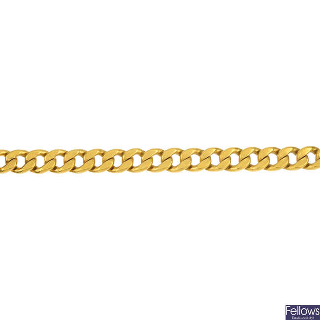 A curb-link bracelet.