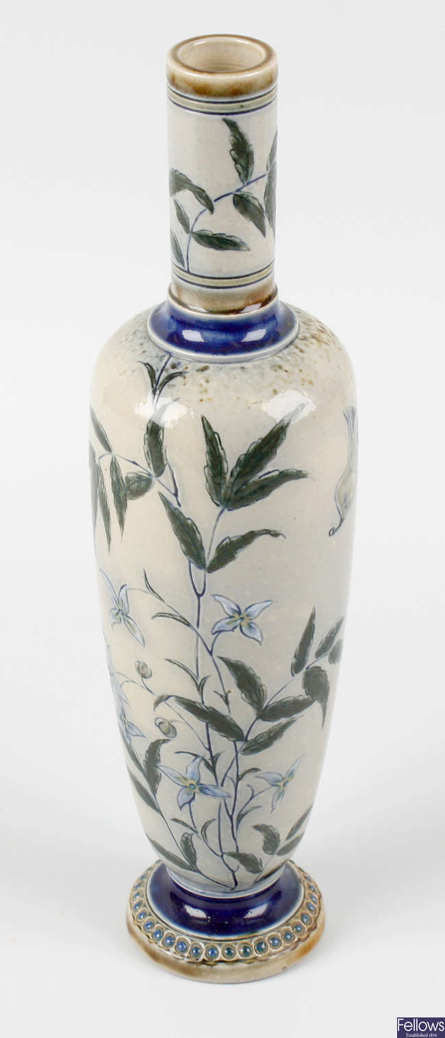 A late Victorian Martin Brothers (Southall Pottery) vase