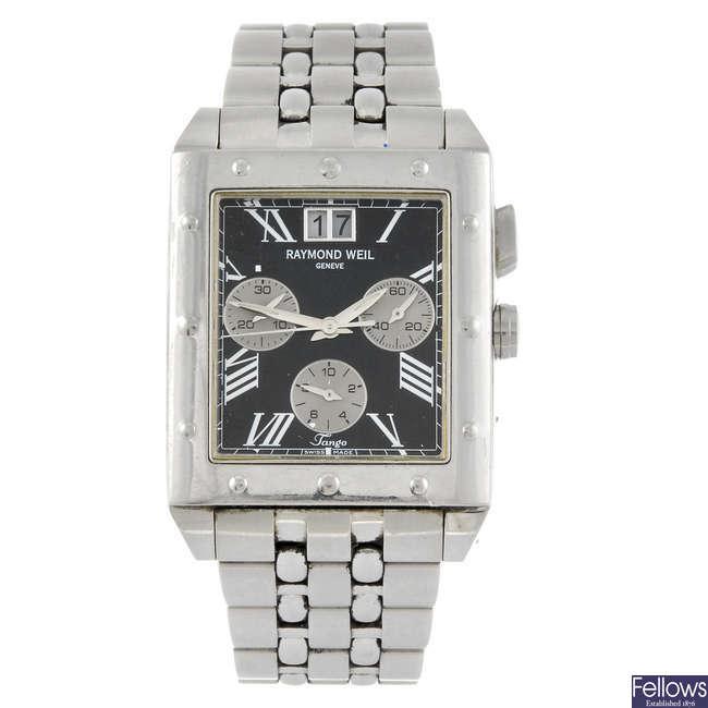 RAYMOND WEIL - a gentleman's Tango chronograph bracelet watch.