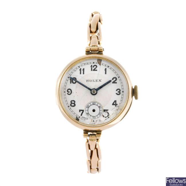 ROLEX - a lady's wrist watch.