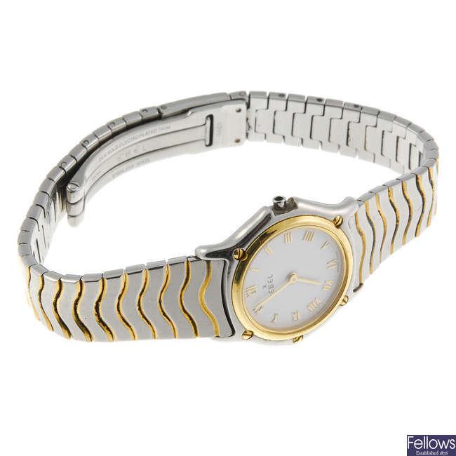 An Ebel lady's bracelet watch.