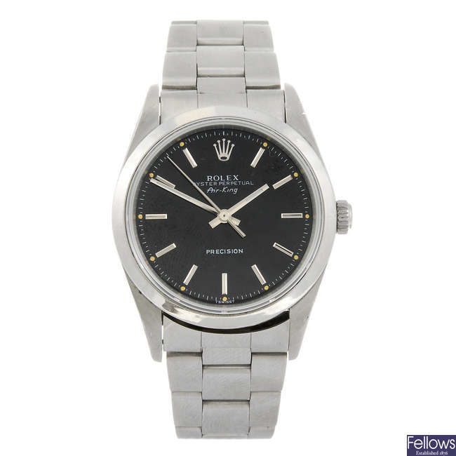 ROLEX - a gentleman's Oyster Perpetual Air-King bracelet watch.