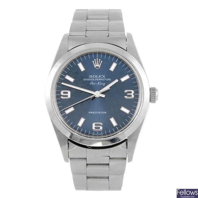 ROLEX - a gentleman's Oyster perpetual Air-King Precision bracelet watch.
