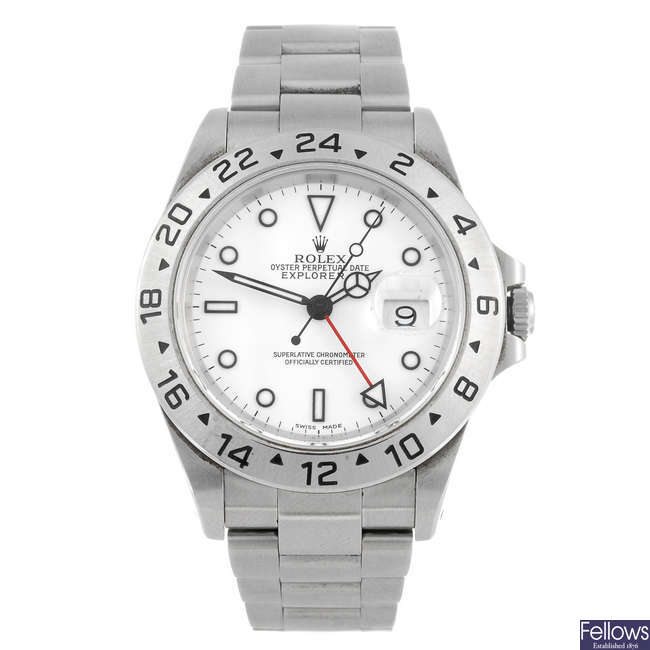 ROLEX - a gentleman's Oyster Perpetual Date Explorer II bracelet watch.