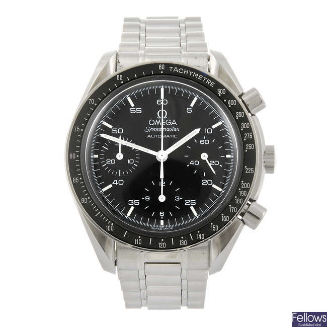 OMEGA - a gentleman's Speedmaster chronograph bracelet watch.