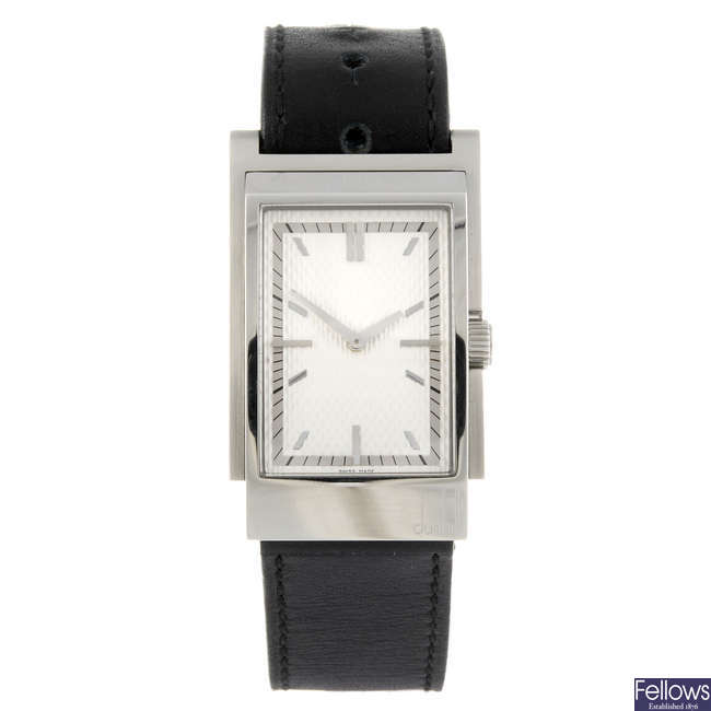 DUNHILL - a gentleman's stainless steel D-Class wrist watch.