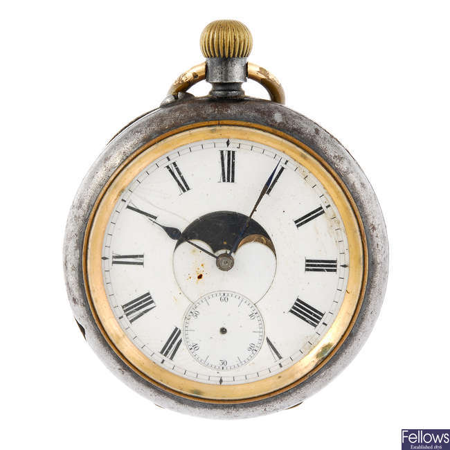 A double face pocket watch by John Hall & Co.