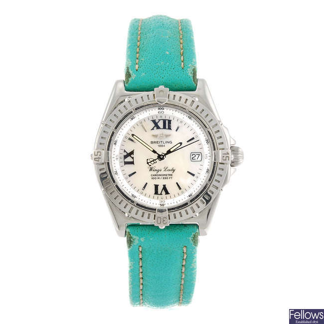 BREITLING - a lady's Wings Lady wrist watch.