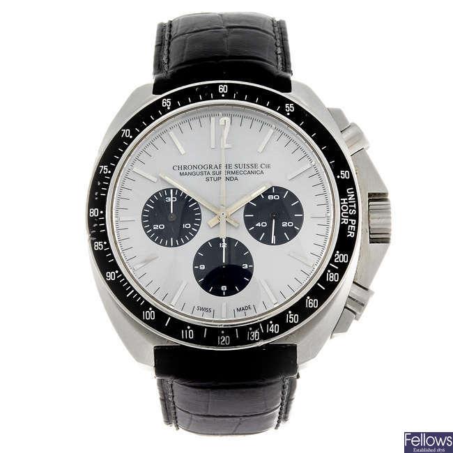 CHRONOGRAPH SUISSE - a gentleman's chronograph wrist watch.