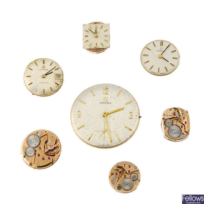 OMEGA - a selection of various watch movements.