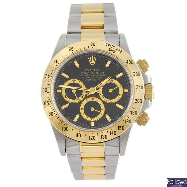 ROLEX - a gentleman's Oyster Perpetual Daytona Cosmograph chronograph bracelet watch.