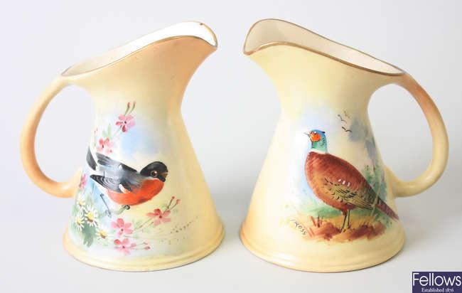 A pair of Locke & Co. Worcester porcelain jugs