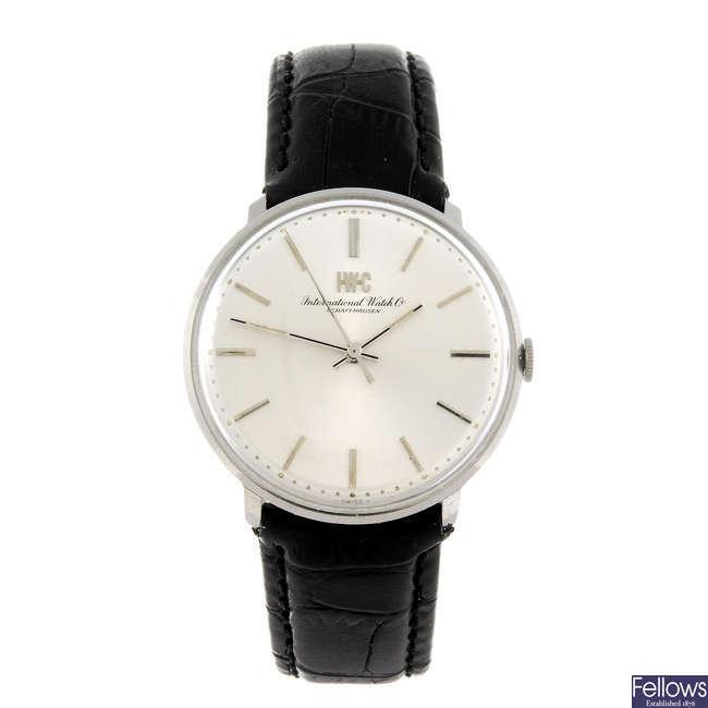 IWC - a gentleman's wrist watch.