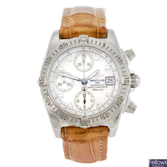 BREITLING - a gentleman's Windrider Chrono Cockpit chronograph wrist watch.