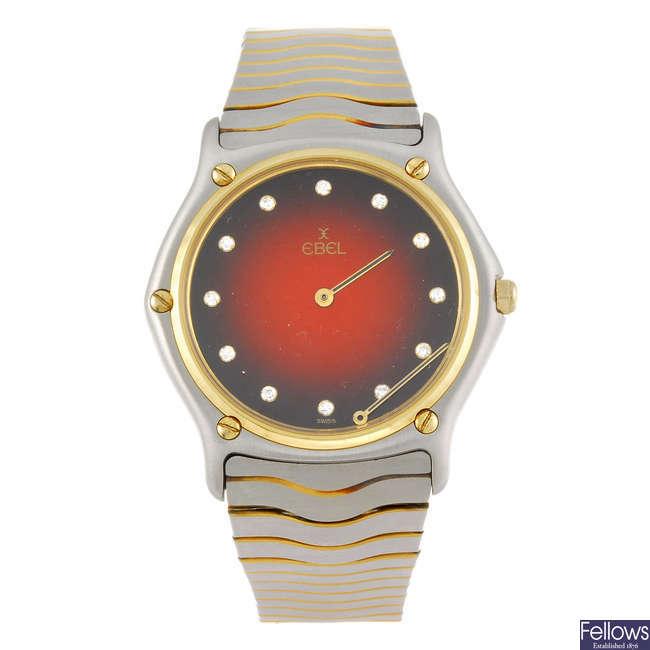 EBEL - a gentleman's Classic Wave bracelet watch.