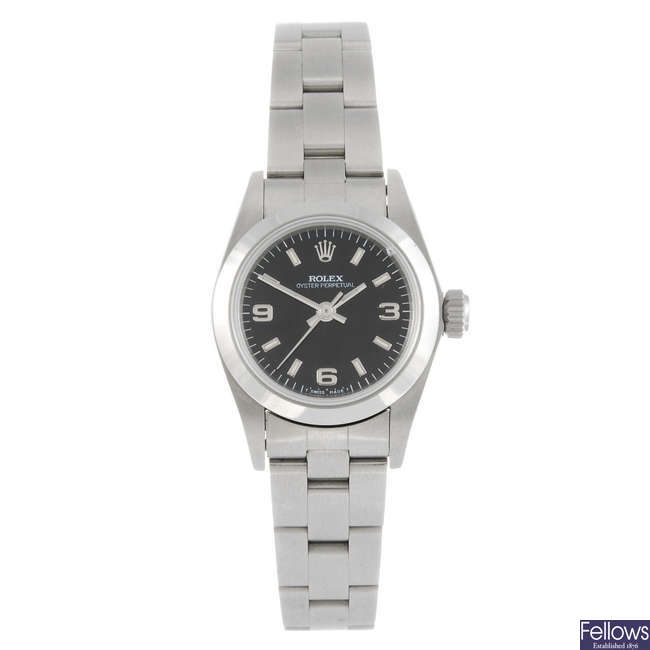 ROLEX - a lady's Oyster Perpetual bracelet watch.