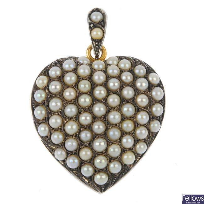 A split pearl locket.