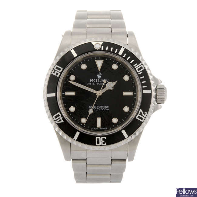 ROLEX - a gentleman's Oyster Perpetual Submariner bracelet watch.