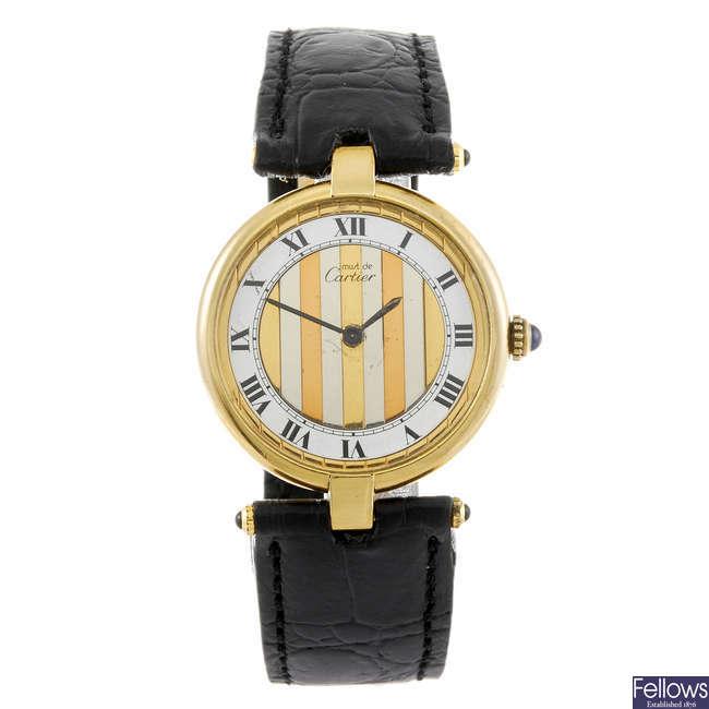 CARTIER - a must de Cartier wrist watch.