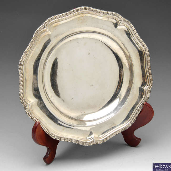 A late Victorian silver entree dish.