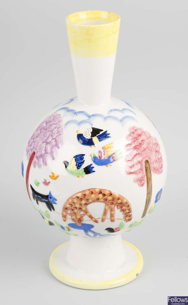 A dated early 1930s Italian Lenci ceramic vase