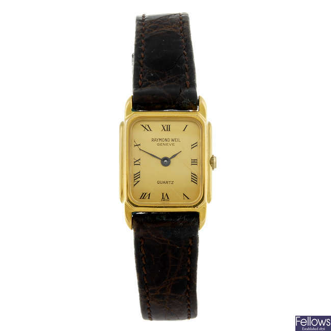 RAYMOND WEIL - a lady's wrist watch together with two gentleman's watches.