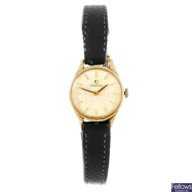 OMEGA - a lady's wrist watch.