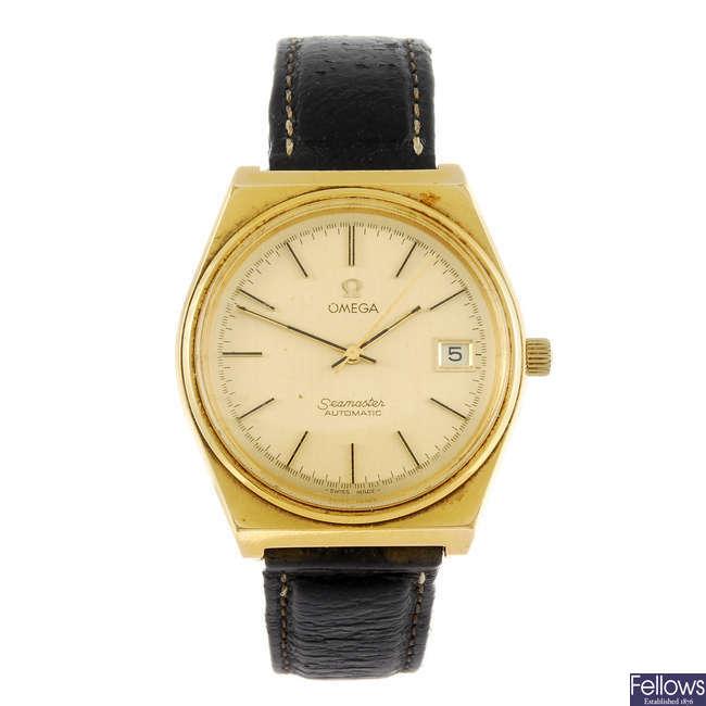 OMEGA - a gentleman's Seamaster wrist watch.