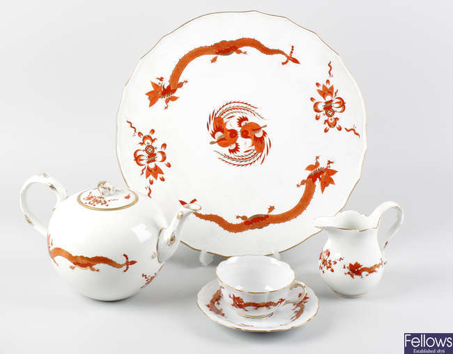 A Meissen 'Ming Dragon' pattern tea and coffee service