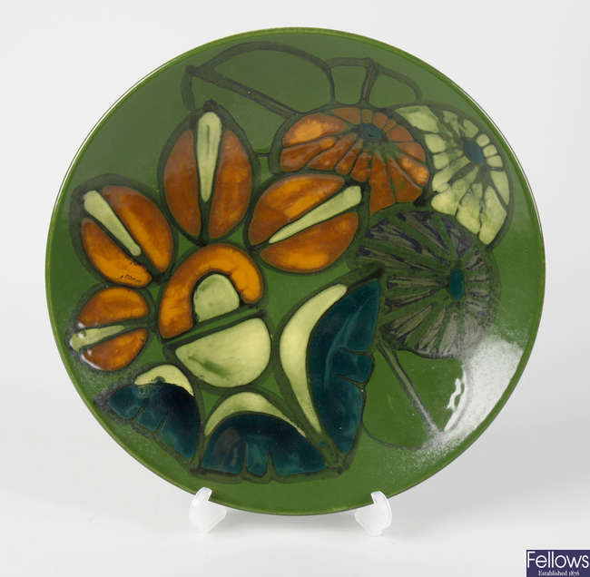 A Poole pottery 'Delphis' dish, c.1970s