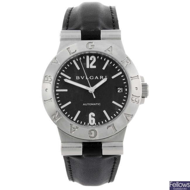 BULGARI - a Diagono wrist watch.