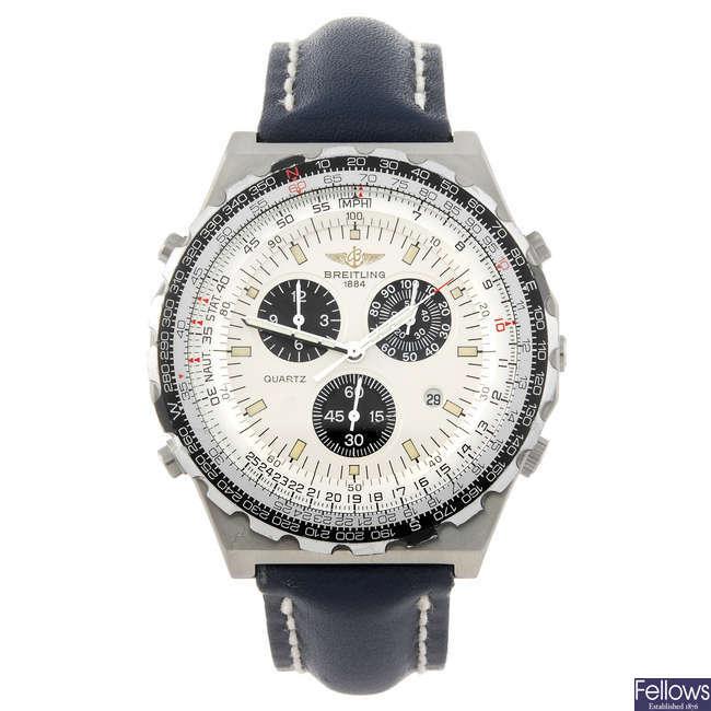 BREITLING - a gentleman's Navitimer Jupiter Pilot chronograph wrist watch.