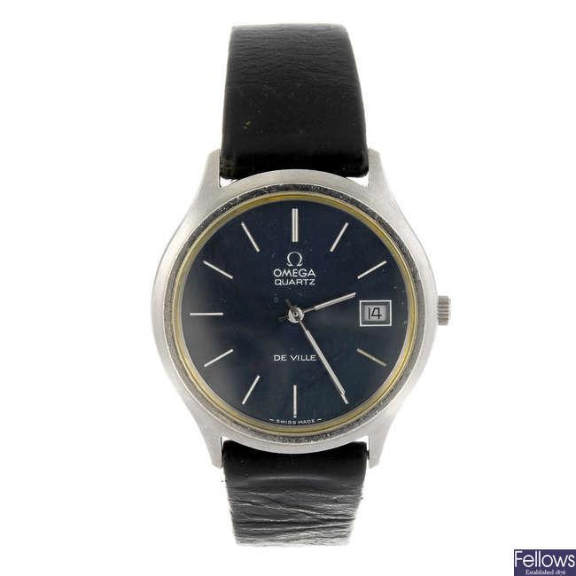 OMEGA - a gentleman's De Ville wrist watch together with a gentleman's Omega bracelet watch.
