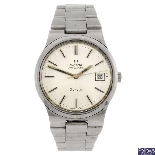 OMEGA - a gentleman's Geneve bracelet watch.