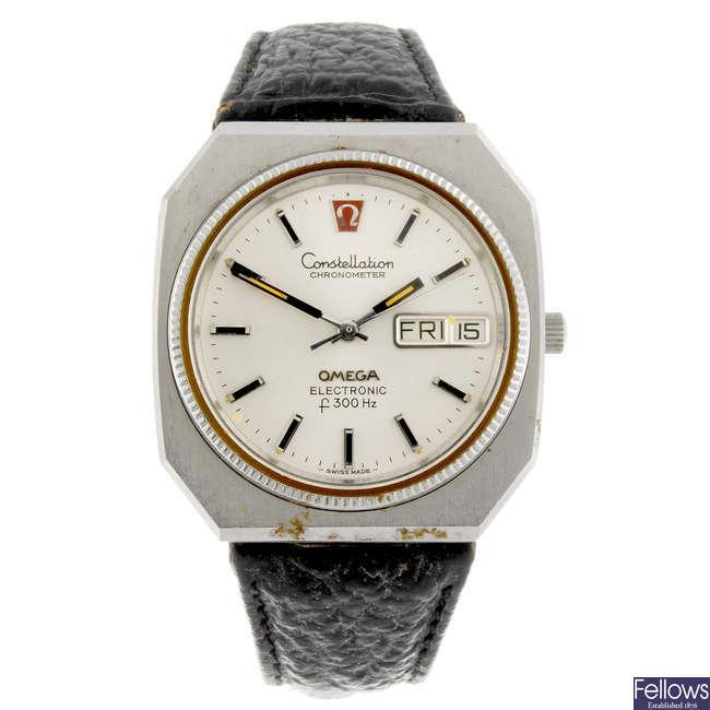 OMEGA - a gentleman's Constellation f300Hz wrist watch.