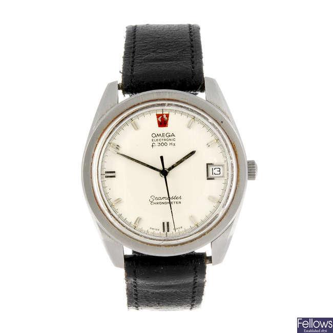 OMEGA - a gentleman's Seamaster f300Hz wrist watch with a Omega De Ville wrist watch.