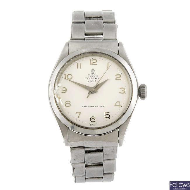 TUDOR - a gentleman's stainless steel Oyster Royal bracelet watch.