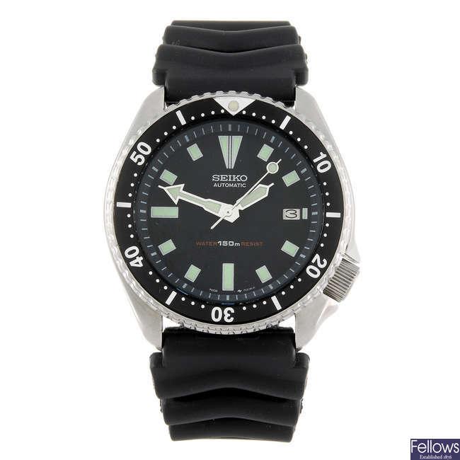 SEIKO - a gentleman's Diver wrist watch.