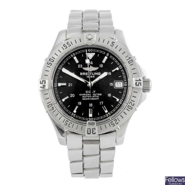 BREITLING - a gentleman's Aeromarine Colt bracelet watch.
