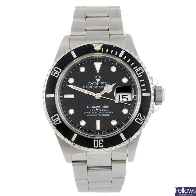 ROLEX - a gentleman's Oyster Perpetual Date Submariner bracelet watch.