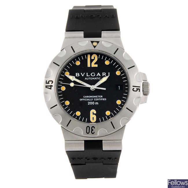 BULGARI - a gentleman's Diagono Scuba wrist watch.