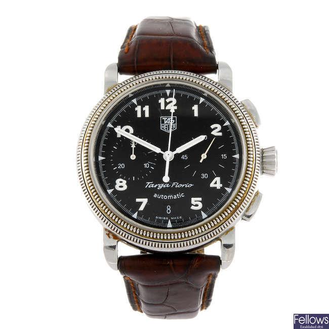 TAG HEUER - a gentleman's Targa Florio chronograph wrist watch.