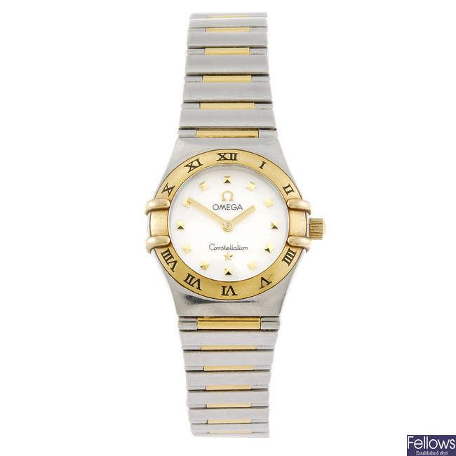 OMEGA - a lady's Constellation bracelet watch.